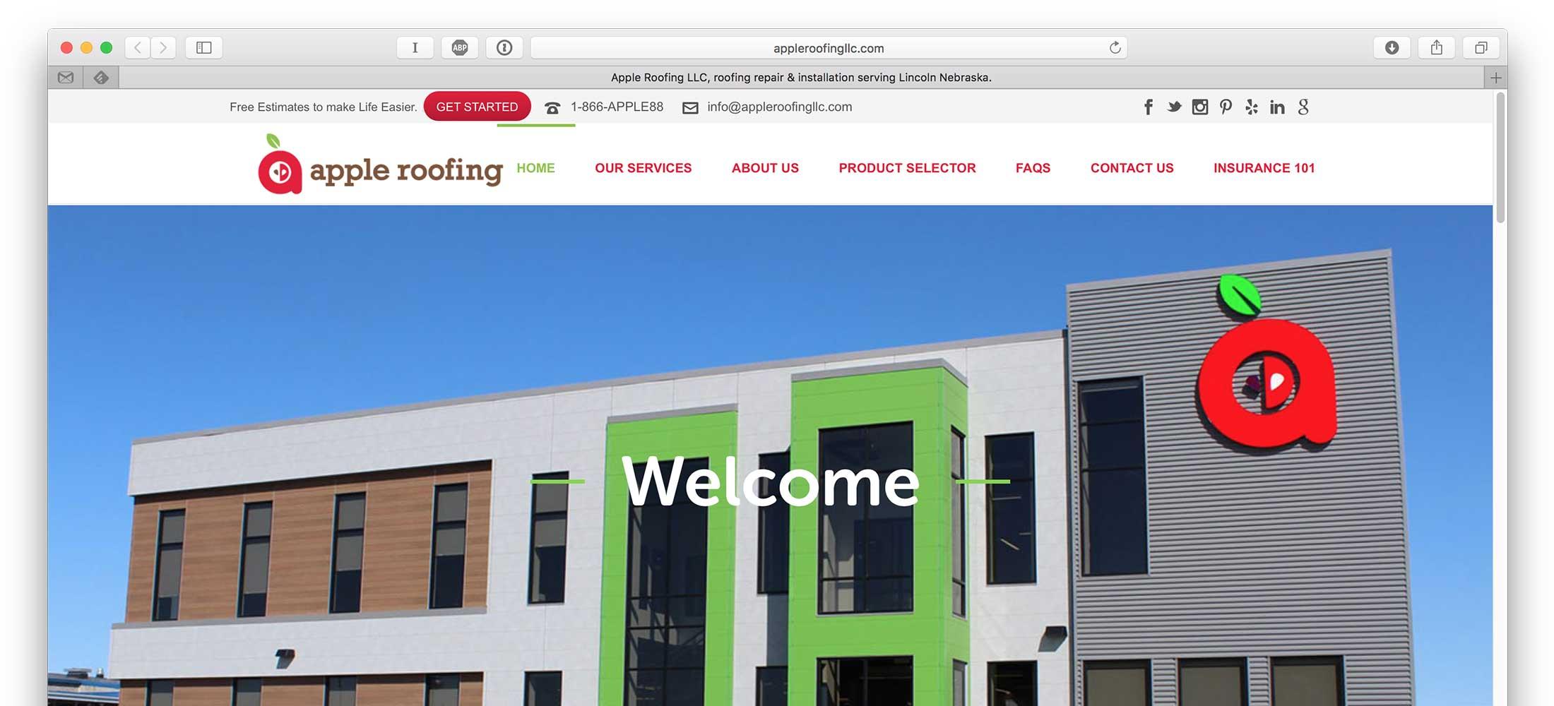 Apple Roofing Web Design 2