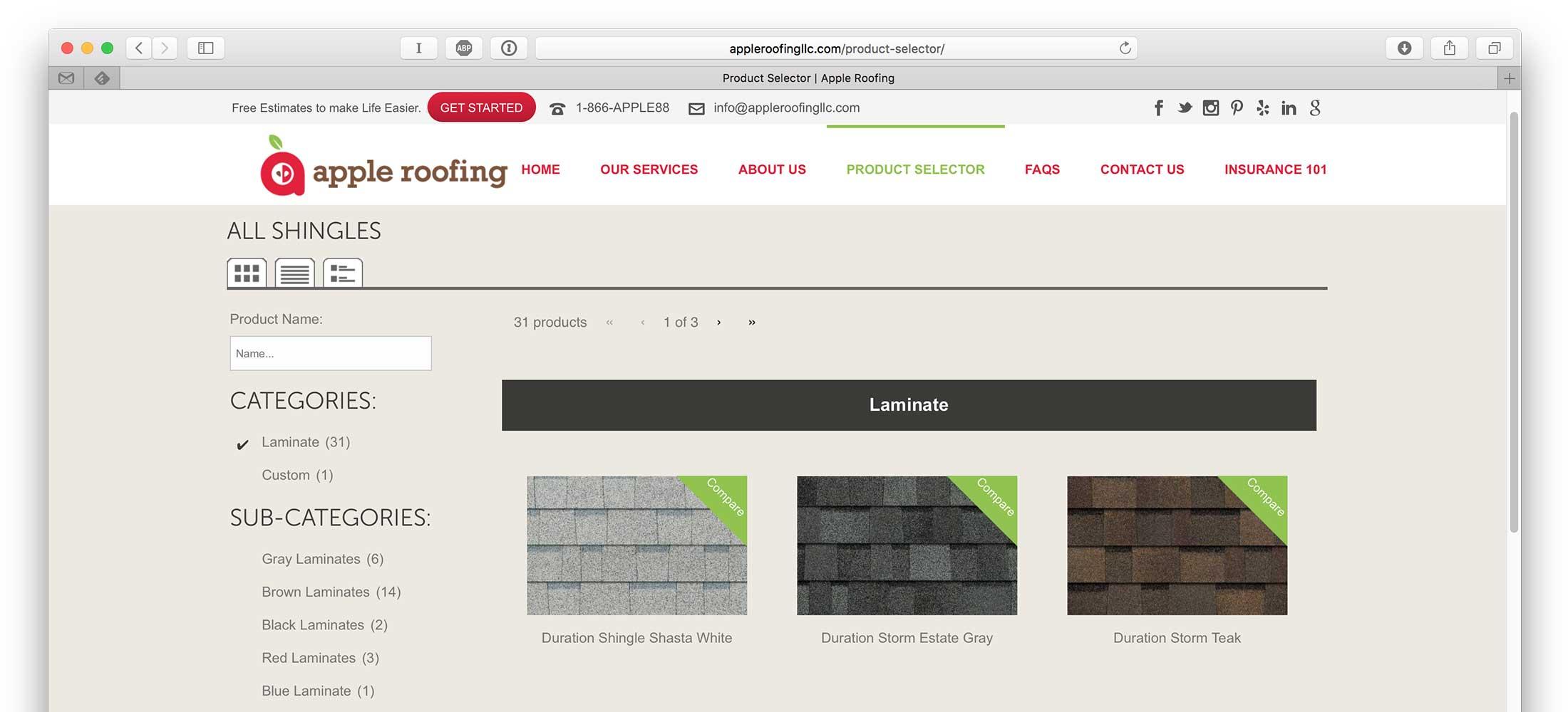 Apple Roofing Web Design 3
