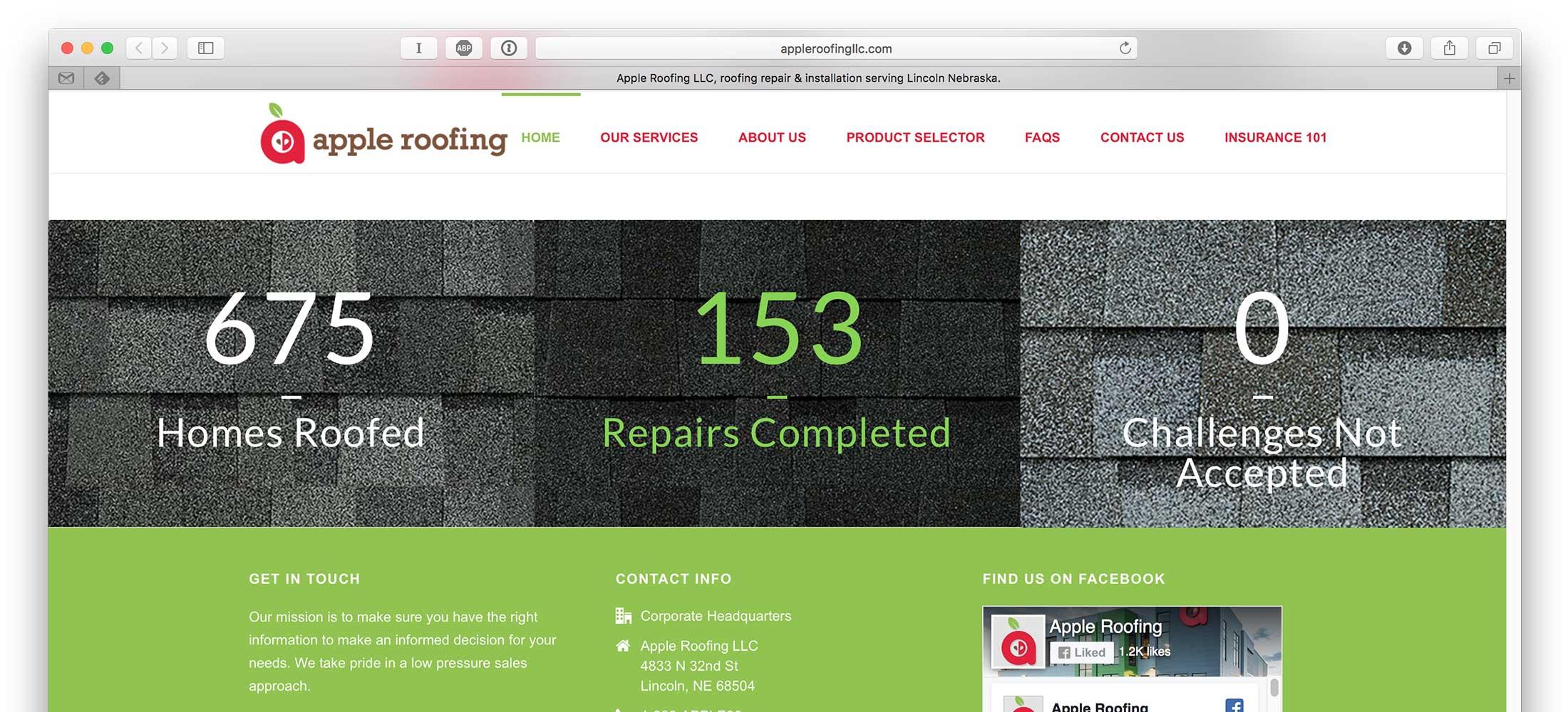 Apple Roofing Web Design 4