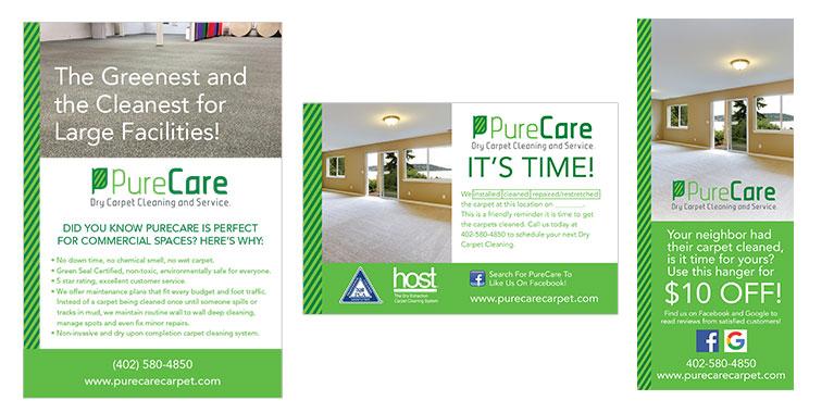 Marketing and Advertising Design PureCare Carpet