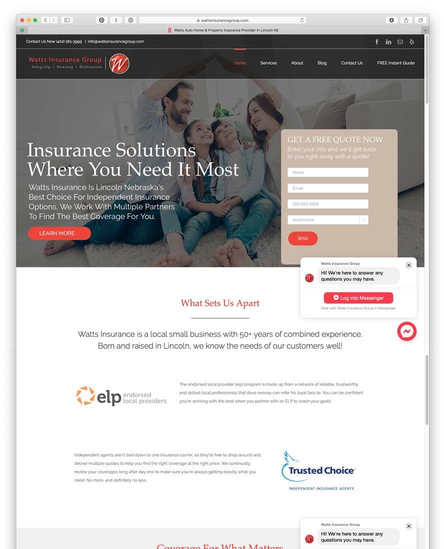 Watts Insurance Website