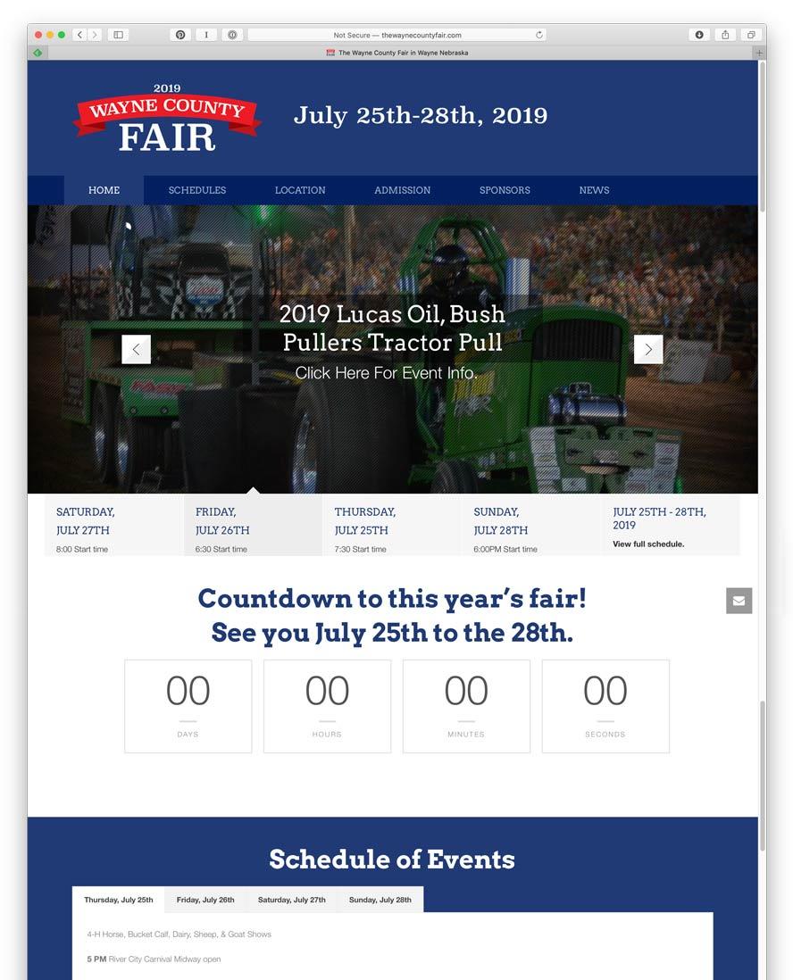 Wayne County Fair Website